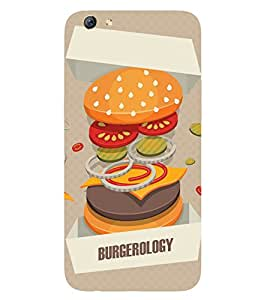 Burger Printed Back Cover for Oppo F3 Plus