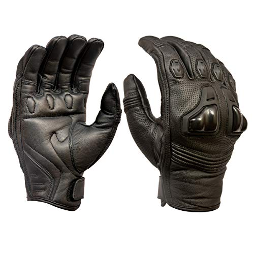 Royal Men Gear - Guanti da moto in pelle di alta qualità, con protezione per le nocch