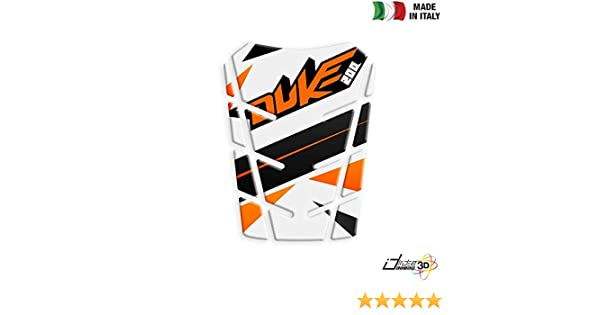 PARASERBATOIO ADESIVO RESINATO PROTEZIONE 3D BIANCO PER KTM DUKE 390 2014-2016