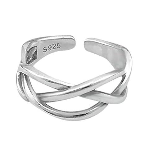 SELOVO 925 Sterling Silver Size J K L M N