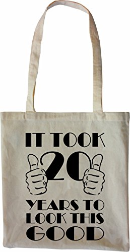 Mister Merchandise Tote Bag It took 20 Years to look this Good Borsa Bagaglio , Colore: Nero Naturale
