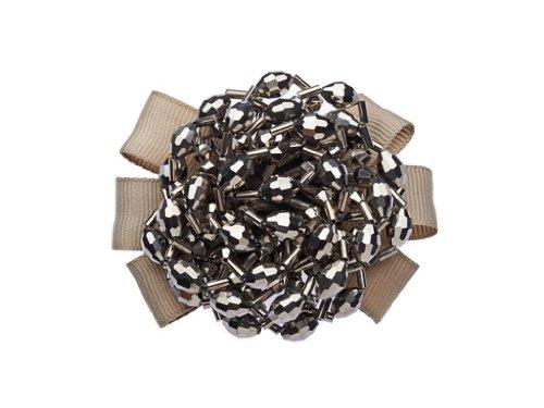 La Loria Damen 2 Schuhclips Grey Circle Grau Schmuck-Accessoires für Schuhe