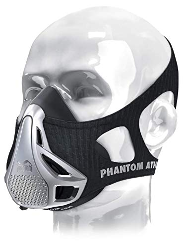Phantom Athletics Erwachsene Training Mask Trainingsmaske, Silber, M -