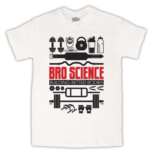 Bro Science Building Better Bodies Herren T-Shirt Weis
