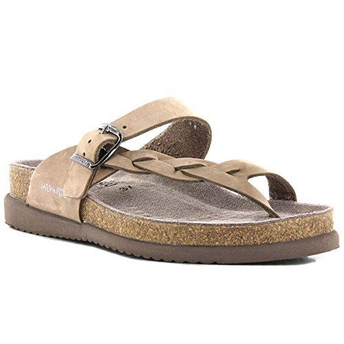 Mephisto Womens Helen Twist Nubuck Sandals Marron