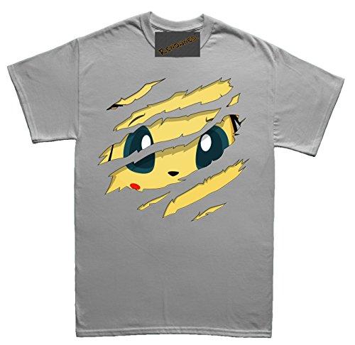 Cute Electric Bunny Torn inside my chest Unisex - Kinder T Shirt Grau