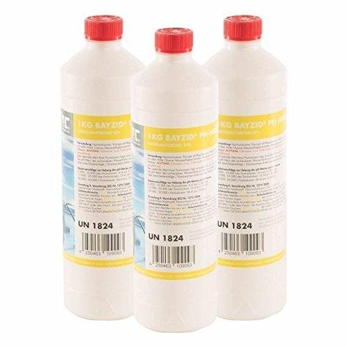 Höfer Chemie 6 x 1 kg pH-Heber flüssig - pH Plus flüssig für TOP Wasserwerte - Beste Qualität