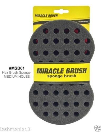 Miracle éponge Twist Brosse à cheveux/pour moyenne Dreads & Afro trous # msb01