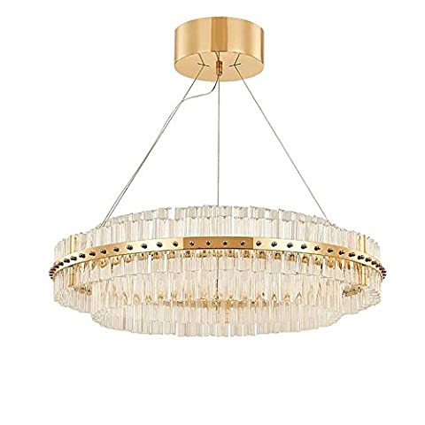 Modern Luxury Crystal Gold Chandelier, Creative Round Chandelier for Living Room, Bedroom, Dining room