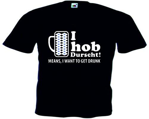 T-Shirt Oktoberfest Wiesn München Junggesellenabschied für Frauen Männer und Kinder in allen Größen XS bis 4XL oder Kinder 104 bis 164 Motiv Nr.02 Kinder-Schwarz