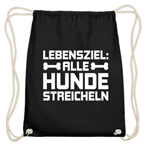 Chorchester Ideal Für Alle Tier Und Hunde Fans - Baumwoll Gymsac -37cm-46cm-Schwarz