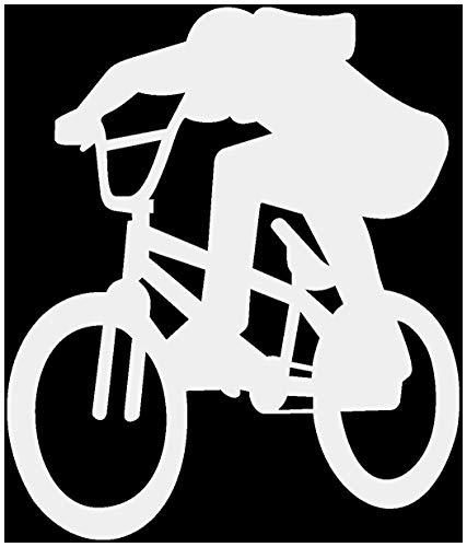 Samunshi® BMX-Fahrer Bunnyhop Aufkleber Motiv 759 in 9 Größen und 25 Farben (17x20cm hellgrau)