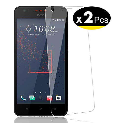 NEW'C Verre Trempé pour HTC Desire 825,[Pack de 2] Film Protection écran - Anti Rayures - sans Bulles d'air -Ultra Résistant (0,33mm HD Ultra Transparent) Dureté 9H Glass