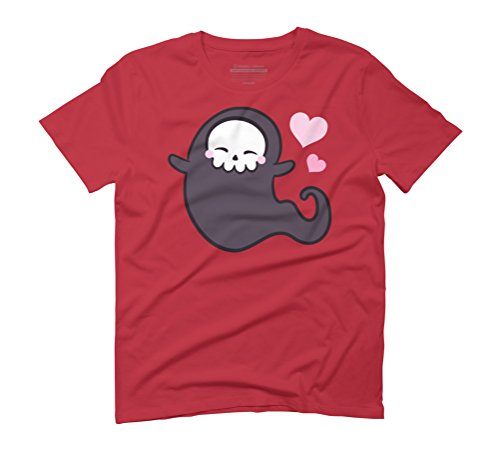 Love Ghost Men's Graphic T-Shirt - Design By Humans Red