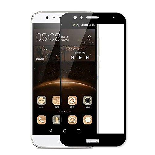 Generica - Protector de pantalla de Cristal Templado Completo Huawei G8 / GX8 - Negro