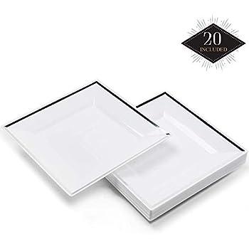 White Disposable 18cm Paper Plates Bulk Buy 108 3 packs of 36