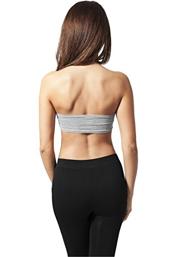 Urban Classics - Ladies Bandeau, T-shirt sportiva Donna Grey
