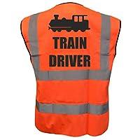 Train Driver Kids Yellow Orange Pink Hi Vis Viz Vest Waistcoat, Childrens High Visibility Reflective Fancy Dress