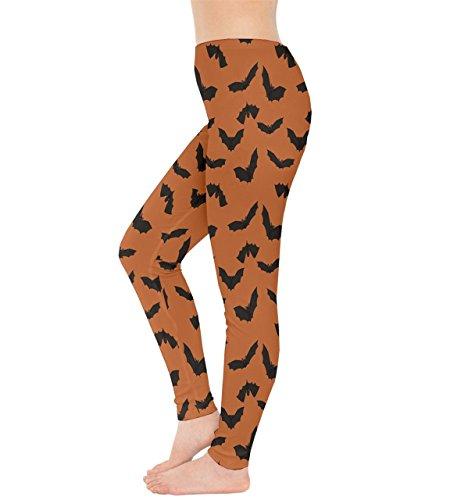 CowCow - Legging - Femme Purple & Yellow Orange/noir