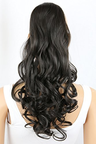 PRETTYSHOP Haarteil hairpiece Zopf Pferdeschwanz Haarverlängerung 60cm gewellt diverse Farben HC13-1