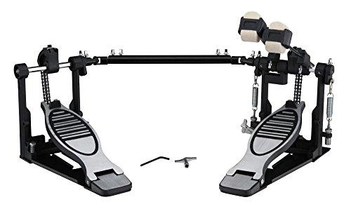 XDrum P-502 Doppel Fußmaschine (Doppelkettenzug, 4-Side-Beater, Federspannung justierbar, rutschfeste Unterseite, Bodenplatten, Metallpedale)