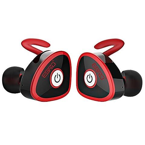 Mini Ecouteur Bluetooth Casque Sans Fil Casque Stéréo Anti Bruit Oreillette 4.1 Intra-Auriculaires Bluetooth Casque Audio Ecouteur Mains libre Avec Smart Voix Rappelant Pour Sport Relaxation Travail En Volant