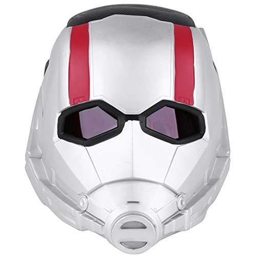 QWEASZER Ameisenmann Maske Marvel Avengers Legends Serie Cosplay Maske - Perfekt für Karneval und Halloween - Kostüm - PVC, Unisex,Ant Man-OneSize