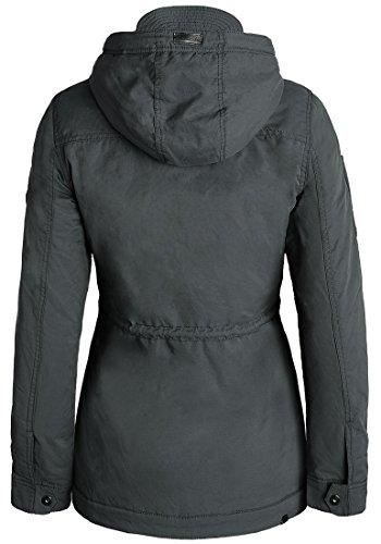BLEND SHE Colette Damen Übergangsjacke Parka mit Stehkragen und Kapuze aus hochwertigem Material Dark Shadow (20239)