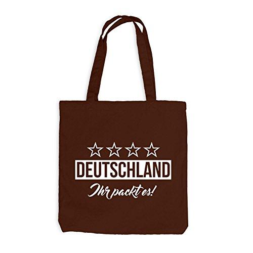 Jutebeutel - Deutschland Fussball Ihr packt es! - Germany Chocolate