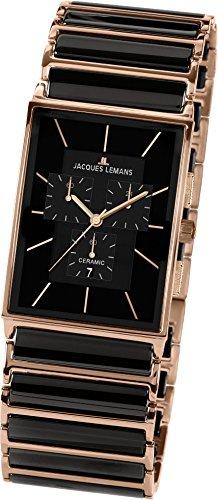 Jacques Lemans Mens Analogue Quartz Watch with Ceramic Strap 1-1900B