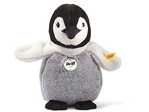 Steiff 057090 - Pingüino de peluche Tornos en color negro/blanco/gris, 20 cm importado de Alemania