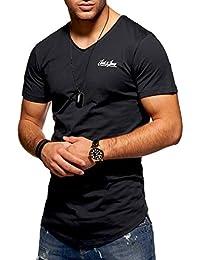 JACK & JONES Herren T-Shirt Kurzarmshirt Oversize Longshirt Basic V-Neck