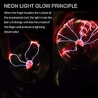 Uniqus 3 USB Plasma Bola electrostática luz mágica lámpara de Cristal Bola de Rayos de luz