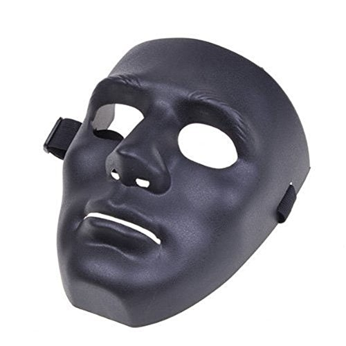 Bello Luna Hip-Hop-Tanzmaske Cosplay Maske für Halloween Maskerade Party - Schwarz