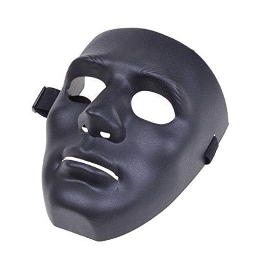 anzmaske Cosplay Maske für Halloween Maskerade Party - Schwarz ()