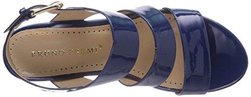 Bruno Premi B3802P Damen Durchgängies Plateau Sandalen mit Keilabsatz Blau (Blu)