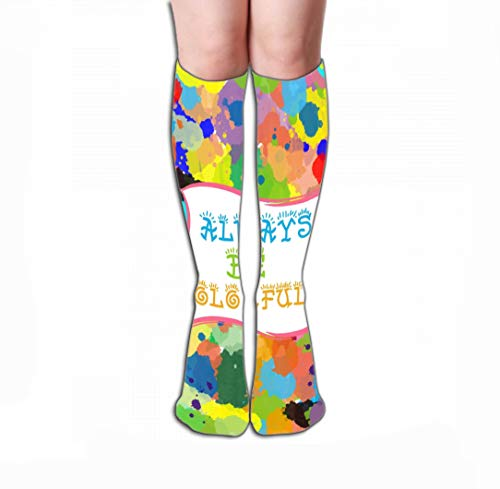 Xunulyn Hohe Socken Women Knee High Socks Novelty Compression Socks 19.7