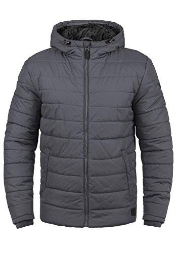 Blend Nilson Herren Steppjacke Übergangsjacke Jacke Mit Kapuze, Größe:M, Farbe:Ebony Grey (75111)