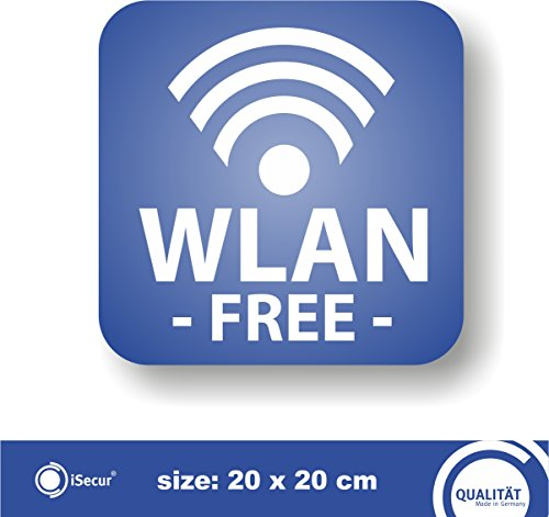 Preisvergleich Produktbild Sticker 'WLAN -FREE'. (Hin_265). iSecur®, For your bakery, cafe, restaurant or shop. | Free Wlan | Free wifi Note on free W-Lan
