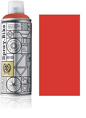 Fahrrad Lackspray in versch. Farben - KEINE GRUNDIERUNG notwendig - Acryllack / Lack Spray in 400 ml Spraydose, Matt- und Klarlack Optik möglich (Rot