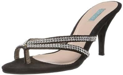 Catwalk Women's Black Slippers - 4 UK (6415C)
