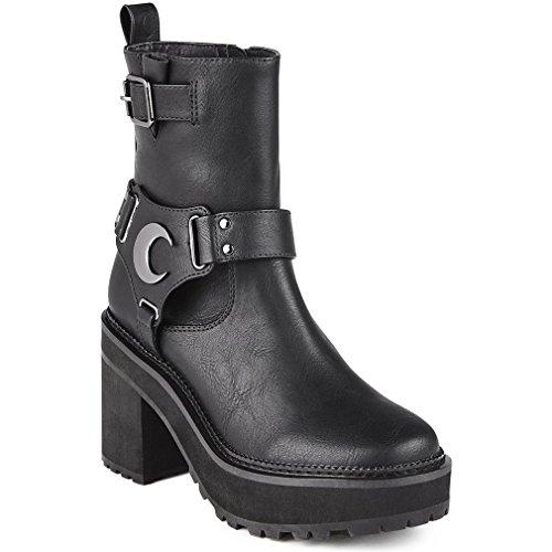 Killstar Botas de Material Sintético para mujer Negro negro One Size, color Negro, talla 40