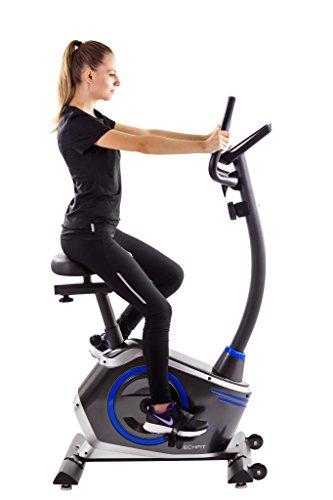 TechFit B410 Magnetisches Fitness Fahrrad Ergometer - Cardio - Fitnessfahrrad mit einstellbarem Sattel, Puls-Sensoren und LCDMonitor. Resistenter Heimtrainer für die perfekte Figur.