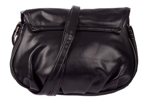 New Bags, Borsa a spalla donna Nero (nero)