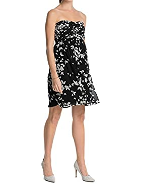 ESPRIT Collection Damen Bustier Kleid mit Schmetterlingsmuster