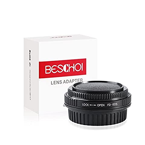 Beschoi FD to EOS Lens Mount Adapter for Canon FL FD Mount Lens to Canon EOS M Camera Mount