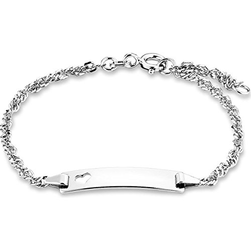 amor Damen-Armband Identarmband 18 cm gravierbar 925 Silber rhodiniert inkl. Wunschgravur