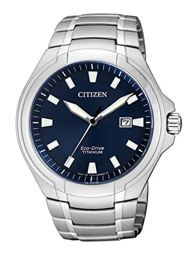Citizen Herren Analog Quarz Uhr mit Titan Armband BM7430-89L