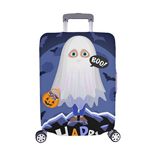 (Nur abdecken) Happy Halloween Boy Halloween Kostüm auf Staubschutz Trolley Protector case Reisegepäck Beschützer Koffer Abdeckung 28,5 X 20,5 Zoll