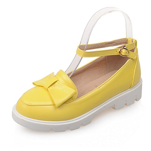 Lady scarpe piatte luce in primavera/Un arco fibbia piatta tacco/Scarpe basse di studente D